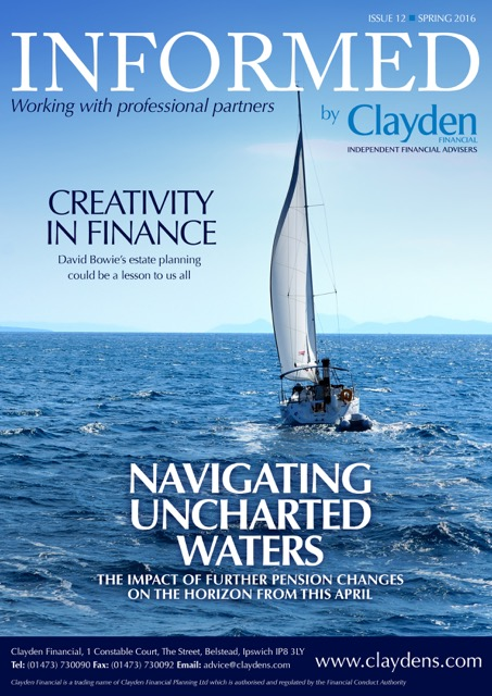 Informed Clayden Financial Spring 2016