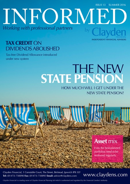 Informed Newsletter Clayden Financial Summer 2016