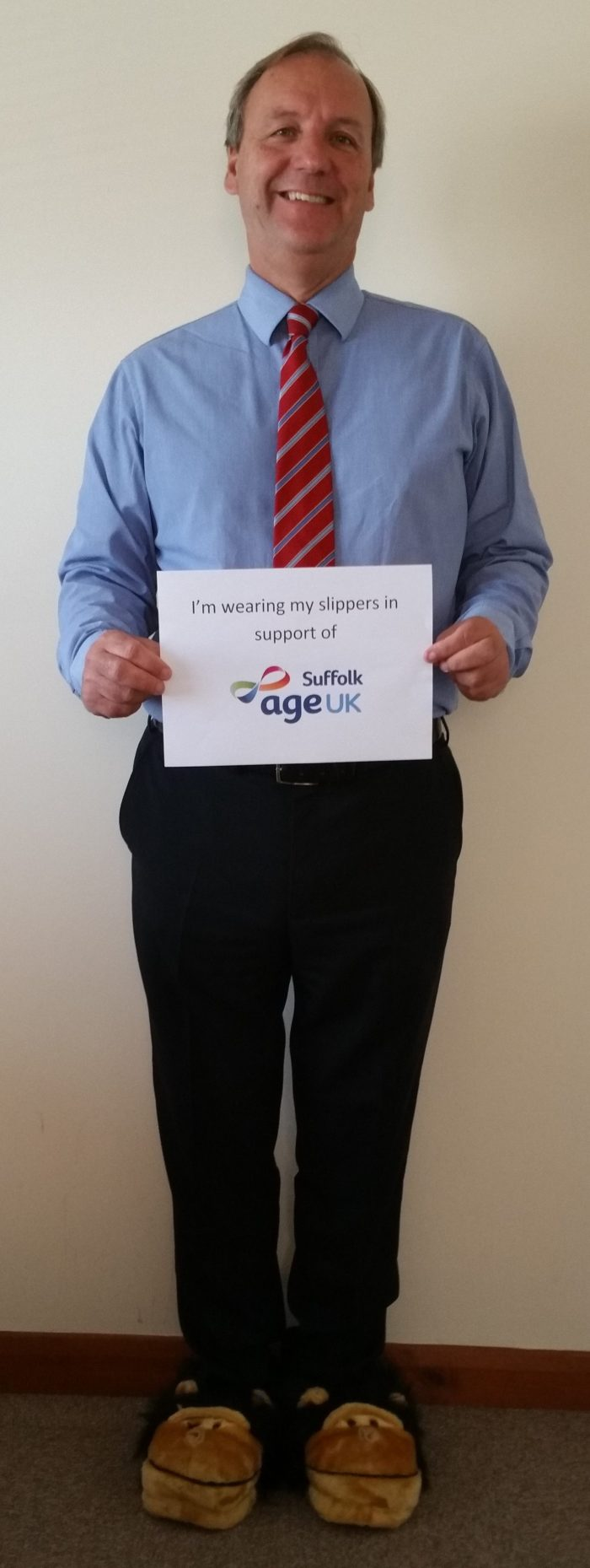 Leigh Clayden supporting Suffolk Age UK