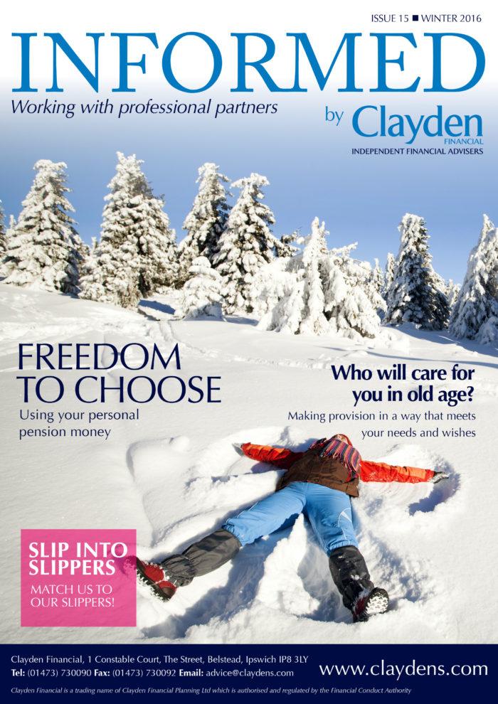 Clayden Financial Informed Winter 2016 newsletter
