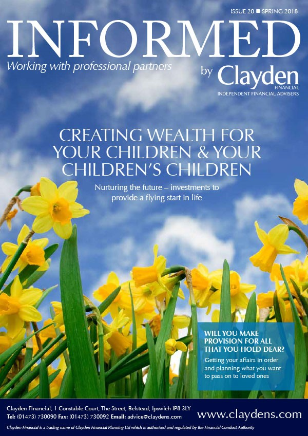 Clayden Financial Informed Newsletter Spring 2018