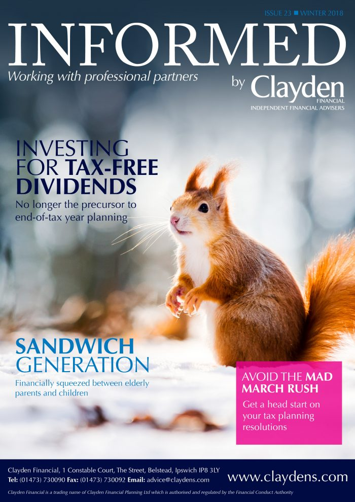 Clayden Financial Informed Newsletter Winter 2018